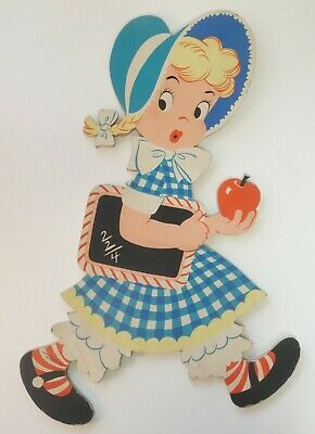 Vtg MOTHER GOOSE PIN-UPS Mary Had a Lamb DOLLY TOY CO Nursery Rhyme WALL PLAQUE