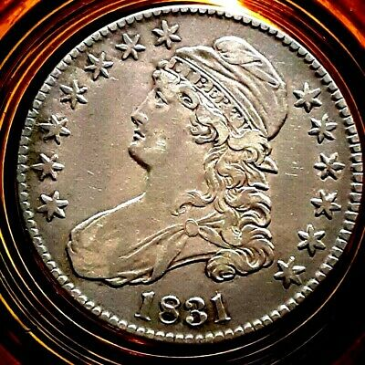 1831 Capped Bust Half Dollar. Silver. Rotation error. 40 to 45% off.
