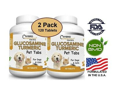 Glucosamine Chondroitin for Dogs, Turmeric, MSM, Hip & Joint Pain (2-Pack)