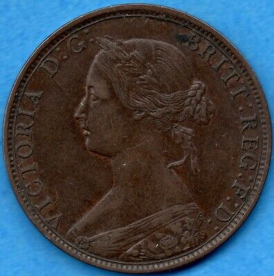 Canada New Brunswick 1864 S6 1 Cent One Large Cent Coin - EF