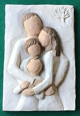 "Willow Tree Family ""A Lifetime Of Love"" 4 x 6 Wall Plaque Demdaco 2001"