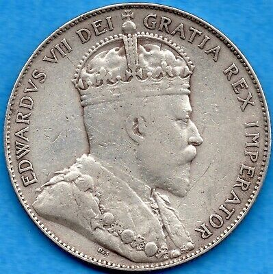Canada 1907 50 Cents Fifty Cents Silver Coin - Fine