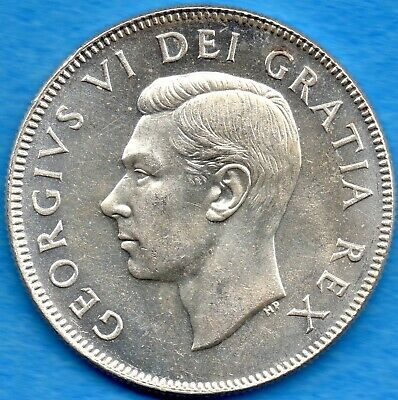 Canada 1950 50 Cents Fifty Cents Silver Coin - Choice Uncirculated