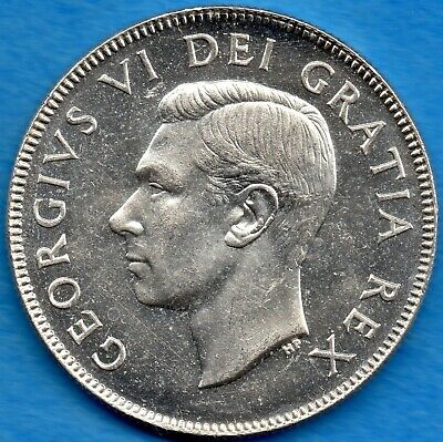 Canada 1952 50 Cents Fifty Cents Silver Coin - Uncirculated