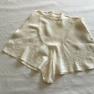 Vintage 1920s-1930s Silk Tap Pants Lingerie Panties Wedding Bridal Trousseau