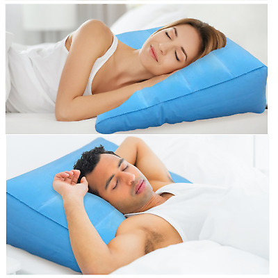 Large Inflatable Bed Wedge Pillow - Travel Wedge Cushion - Lightweight Comfort