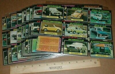 VTG Topps Old Auto's Autos of 77 1977 Topps Automotive Cards 99 card NM Set