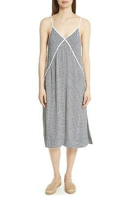 $495 NEW Rag /& Bone Laurie Check Side Button Tank Dress Blue White Gingham S