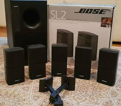 Bose Acoustimas Double Cubes and Bose SL2 Wireless Surround Link
