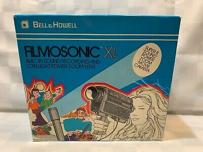 Vintage Bell & Howell 1235 Filmosonic XL Sound Movie Video Camera w/ Box Manual