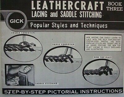 LEATHERCRAFT ~ Lacing and Saddle Stitching Book 3 Step-by-step Instructions - LN