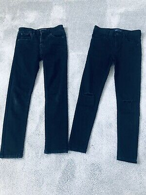 Next Boys Black Skinny Jeans 2 Pairs Age 9 Years 1 Pair Barely Worn