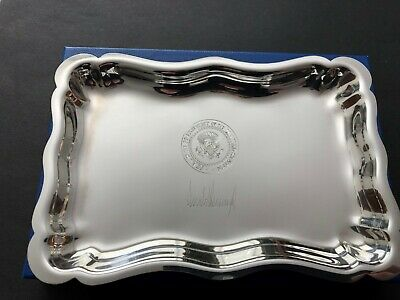 """TRUMP West Wing Salisbury Pewter Desk """"whatnot"""" Tray or Dish EXTREMELY RARE!"""