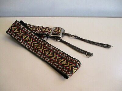 Vintage Retro Hippie Boho Pattern Woven Camera Strap