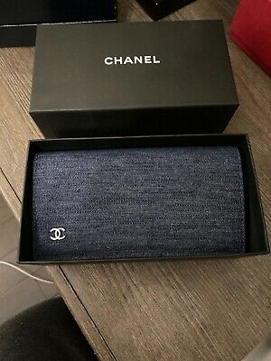 CHANEL new Sunglass-eye Glass Denim Quilted Case With Cleaning Clothe