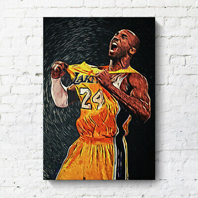 Kobe Bryant Poster Basketball Living Room Painting Basketball Player Canvas Wall