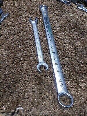 """Easco # 62126 13/16"""" x 11/16"""" Box Wrench and 9/16×1/2 Flare Nut Wrench"""