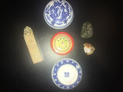 CHINESE LOT with ANTIQUE&VINTAGE items,BUDDHA SEAL-PENDANTS-Amulets