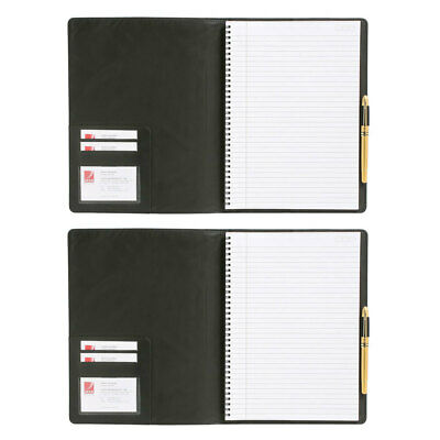 2PK Cambridge Mead A5 Business Notebook 100 Pages Office/School Stationery Black