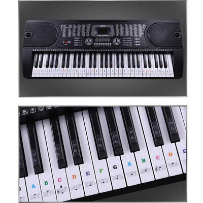 Removable Music Keyboard Piano Stickers For 49, 54 ,61or 88-KEY Piano Colorful