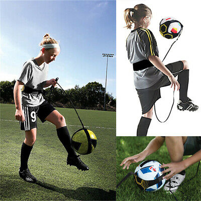 Soccer Football Kick Throw Trainer Solo Practice Training Aid Control Skills NEW