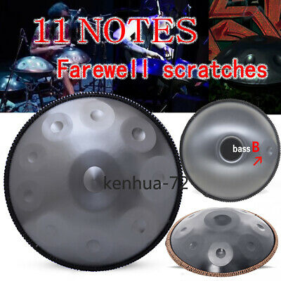 "22 ""11 Notes Professional Hand Drum Handmade Good Sound Professional-Silver"