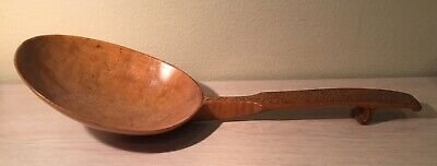 Beautiful Antique 18Th Century Scandinavian Carved Maple Wood Spoon - Large
