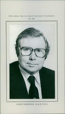 Vintage photograph of Clive Thornton