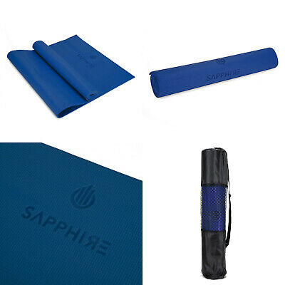 Yoga Mat EXTRA THICK 6mm 173cm x 61cm Non Slip Exercise/Gym/Camping/Picnic BLUE
