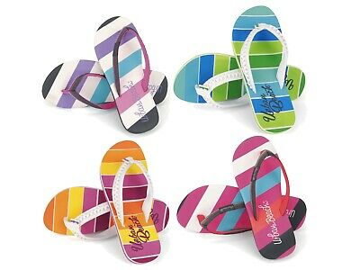 Urban Beach Girls Flip Flops Kids Toe Post Beach Sliders Sandals Holiday Size