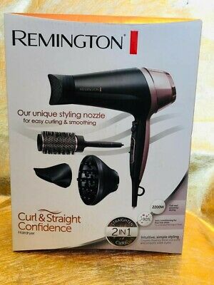 Remington D5706 Curl and Straight Confidence Hairdryer with Accessories
