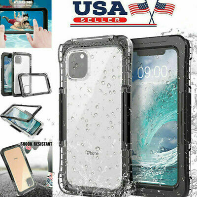 For iPhone 11/11 Pro/11 Pro Max Waterproof Case Heavy Duty Full Body Shockproof