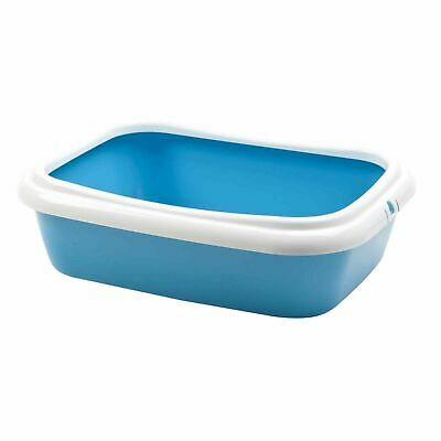 Pet Ting Blue Cat Kitten Litter Tray - Toilet Trays Box Hooded