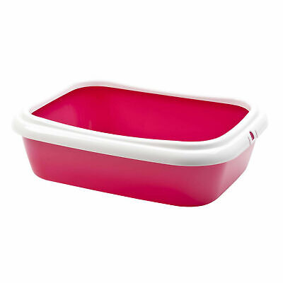 Pet Ting Pink Cat Kitten Litter Tray - Toilet Trays Box Hooded