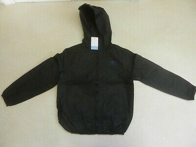 BNWT Next Boys Black Hooded Lightweight Waterproof Raincoat Jacket Age 8 Years