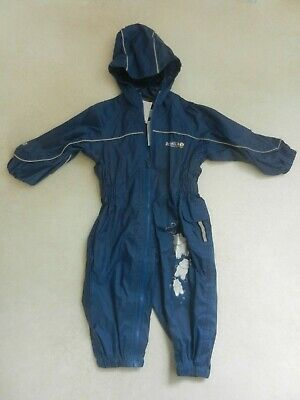Regatta Baby Boys Blue Rain Puddle Suit All In One 12-18 Months 1-1.5 Years
