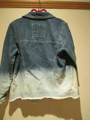 Abercrombie & Fitch Denim Jacket Dipped Dyed Teen 15 - 16 Size Unisex