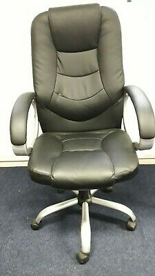 Executive Office Home Gaming Swivel Computer Desk Chair - Black