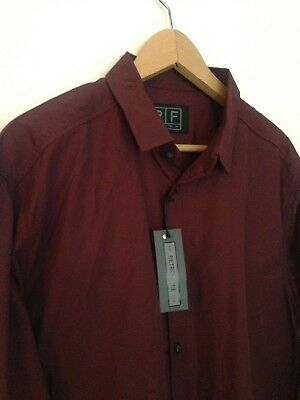 Wine Mens Trojan Embroidery Logo Oxford Pique Cotton T-Shirt TR 8284 Maroon