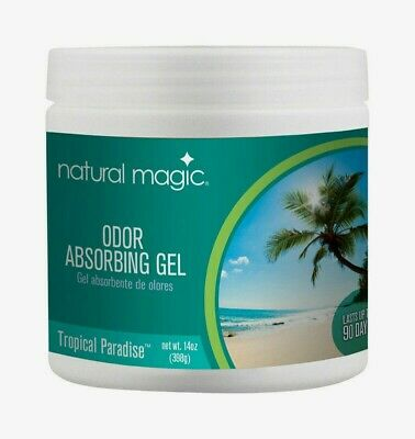 Gonzo NATURAL MAGIC Odor Absorbing Gel 14 oz Tropical Paradise 90 Days 4122D NEW