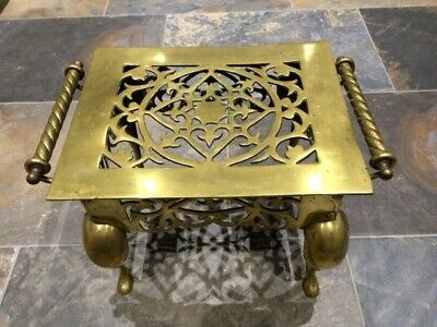 Antique / Vintage Brass (Foot) Stool or could be plant stand (LS17)