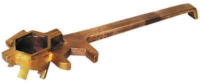 Wesco 272086 Bronze Non-Sparking Drum Plug Wrench with Side Lug