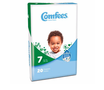 Comfees Baby Diapers Size 7, CASE OF 80