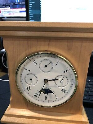 Hermle Moon Phase Quark Clock With Months Dates Day