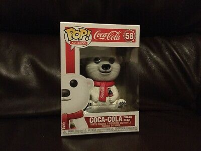 Funko Pop Vinyl Ad Icons Coca Cola Polar Bear + Pop Protector