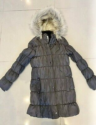 Girls £49 Marks & Spencer Padded Fur Hood Jacket Age 11-12 BNWOT