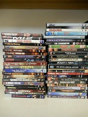 DVD Movie Lot Collection thriller suspense Romance action comedy