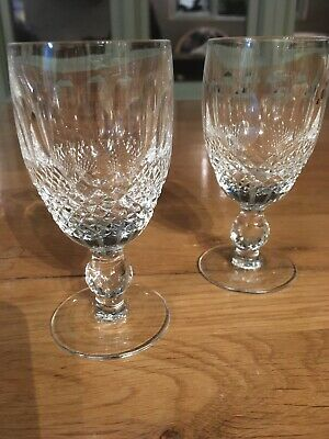"""6 Pretty Waterford Crystal """"Colleen Short Stem"""" Port Glasses,  4.25 Inches Tall"""