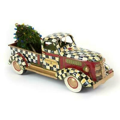 MacKenzie-Childs Courtly Check Truck with Tree ~NEW~ #35512-001 ~ RETIRED ~ HTF