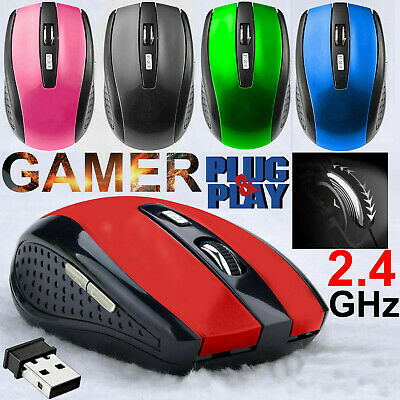 2.4GHz Wireless Cordless Optical Scroll Mouse Mice For PC/Laptop/Computer USB UK